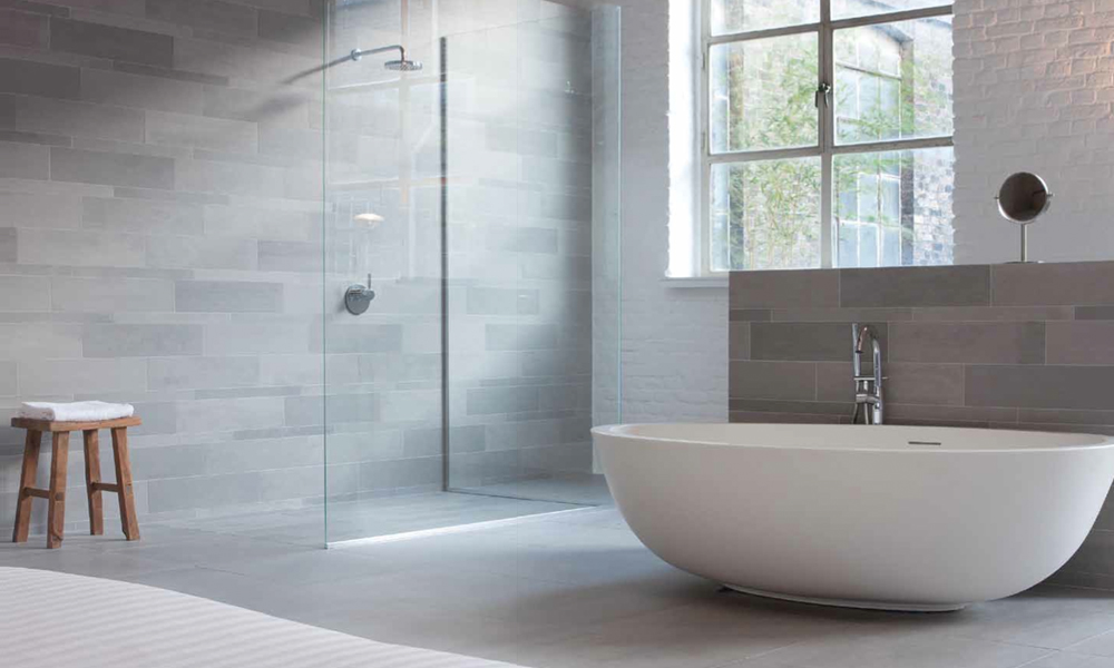 Bathroom Light Grey Tiles grey ceramic tiles – mosa terra tones – rubble tile, minneapolis